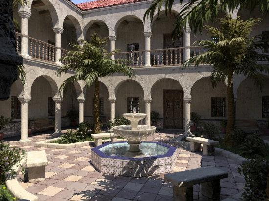 Un patio