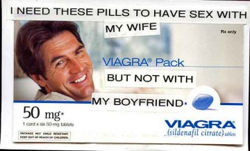 I need these pills to have sex with my wife – but not with my boyfriend