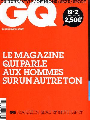 GQ: couverture du numéro 2