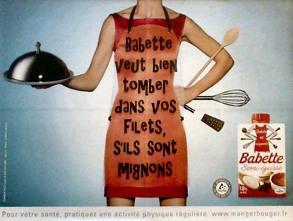 crème vanillée (la dernière publicité pour Babette)