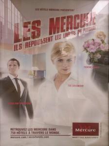 Publicité pour les hôtels Mercure
