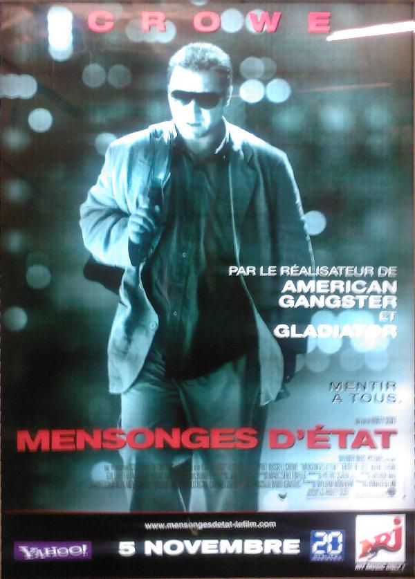 L'affiche du film «Mensonges d'état»