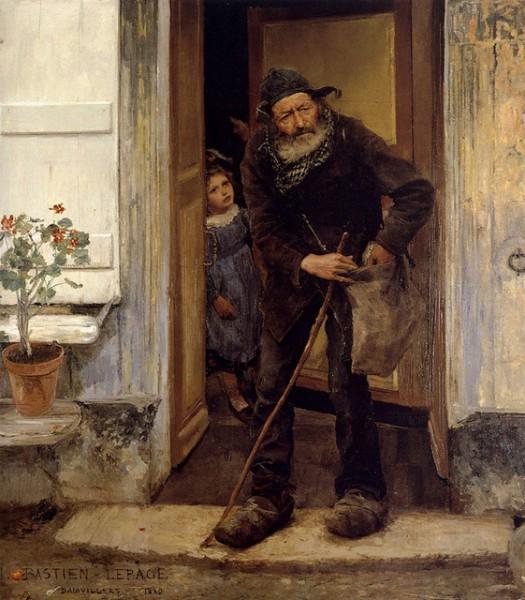 Jules Bastien Lepage - Le mendiant