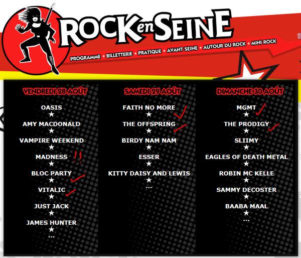 Rock en Seine 2009