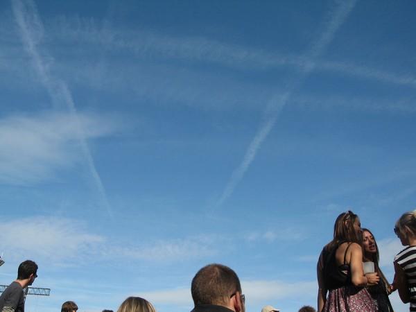 Le ciel bleu de Rock en Seine
