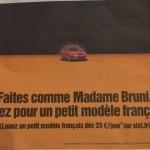(toute) petite publicité française