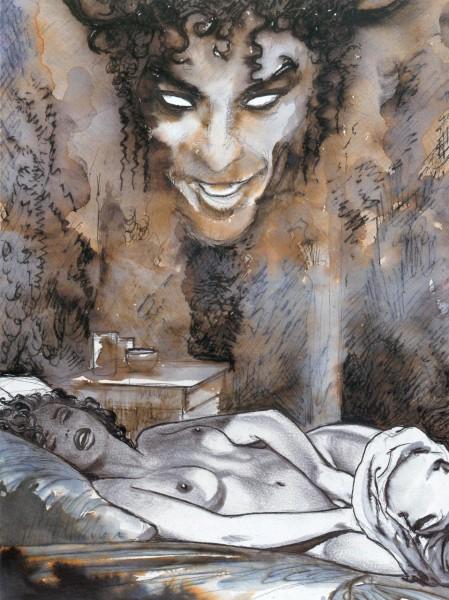 Dans l'intimité rêvée d'une femme - illustration de Manara