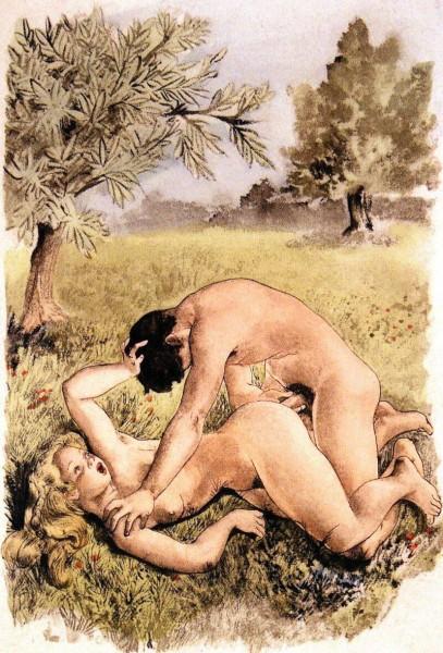 Ретро рисунки секс