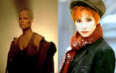 à ma gauche, lieutenant Ripley, à ma droite, Mylène Farmer façon gavroche