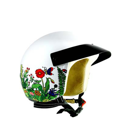 Casque scooter Kukuxumusu blanc – forêt