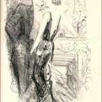 dessin noir et blanc : un homme en smoking fait face à une femme en robe de soirée, les deux très dignes, ne serait-ce la main de la femme plongée dans la braguette de l'homme