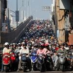 motards dans les embouteillages de Taipei (2009)