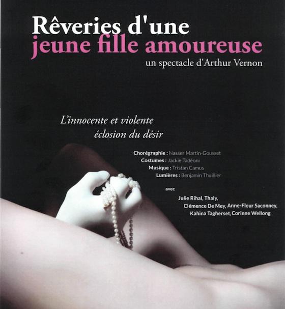 Affiche du spectacle «Rêveries d'une jeune fille amoureuse»