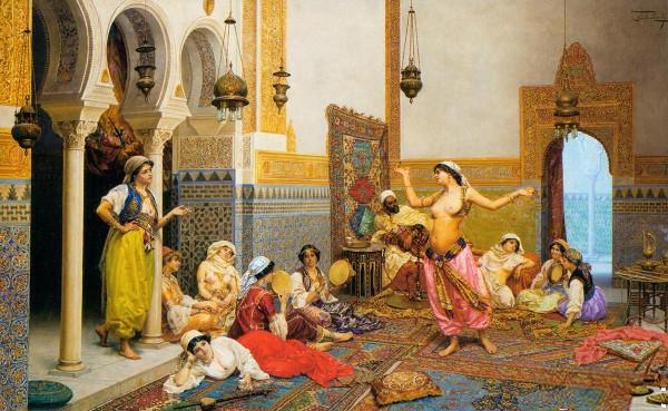 Un harem (tableau de Julio Rosati)