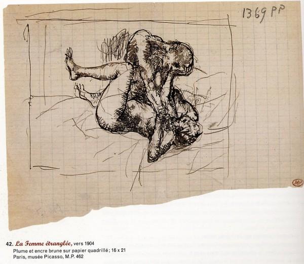 La femme étranglée, Picasso