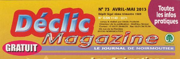 Déclic Magazine, gratuit de l'île de Noirmoutier