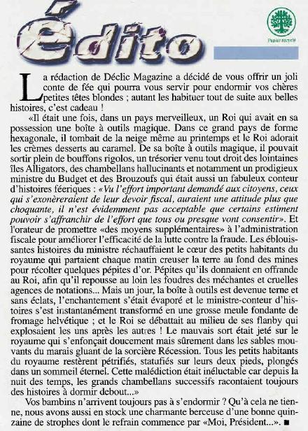 l'éditorial de Déclic Magazine