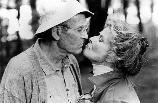 "Henry Fonda & Katherine Hepburn dans ""La Maison du lac"" (On Golden Pond), 1981"