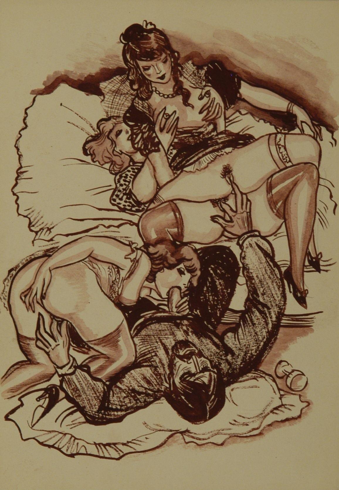 Эротические графические рисунки 20 фотография