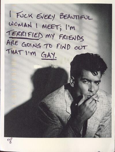 I fuck every beautiful woman I meet; I'm TERRIFIED my friends are going to find out that I'm GAY