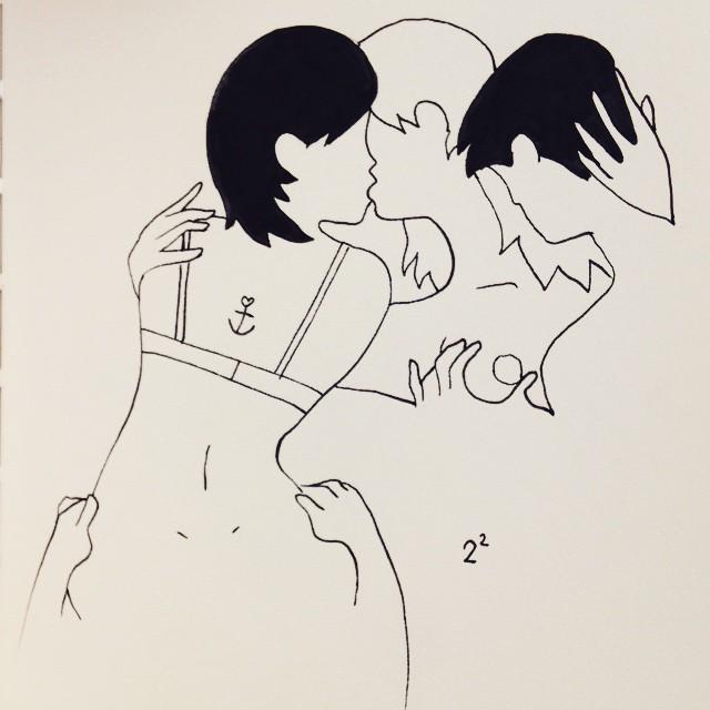 Deux femmes, deux hommes - un dessin de Petites Luxures