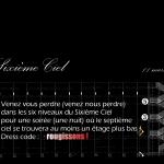 Carton d'invitation pour une soirée au Sixième Ciel