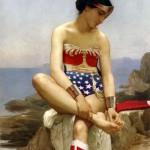 Wonder Woman se retirant une épine du pied