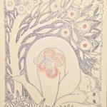 Dessin d'un couple faisant l'amour sous un arbre paon