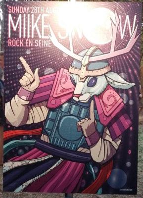 L'affiche proposée pour Miike Snow dans la désormais traditionnelle exposition Rock-Art
