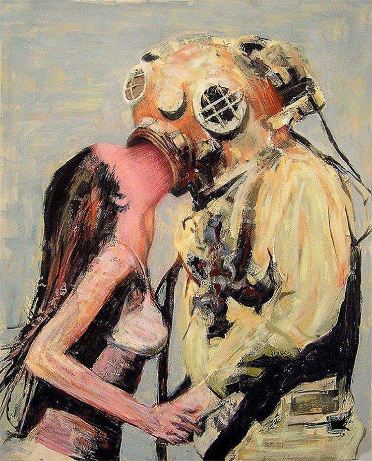 La femme et le plongeur